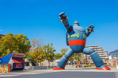 Gigantor机器人(Tetsujin 28)在神户,日本 免版税库存图片