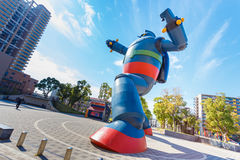 Gigantor Robot (Tetsujin 28-go). KOBE, JAPAN - OCTOBER 26: Gigantor Robot in Kobe, Japan on October 26, 2014. Built to commemorate the 15th anniversary of the Stock Images