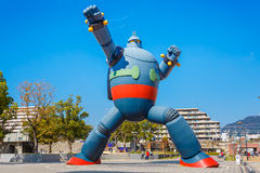 Gigantorrobot (Tetsujin 28) in Kobe, Japan Royalty-vrije Stock Foto's