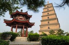 Gigantyczna Dzika Gęsia pagoda, Xian, Shaanxi prowincja, Chiny zdjęcia royalty free