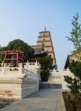 Gigantyczna Dzika Gęsia pagoda, Xian, Shaanxi prowincja, Chiny obraz royalty free
