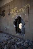 Gigantyczna dziura w ścianie Zdjęcie Royalty Free