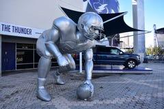Gigantyczna gracz baseballa rzeźba Zdjęcie Royalty Free