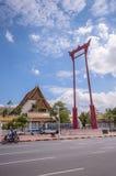 Gigantyczna huśtawka i urząd miasta, punkt zwrotny Bangkok, Tajlandia Obrazy Royalty Free