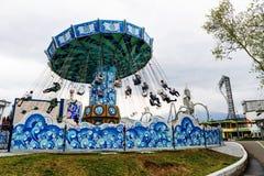 gigantyczna huśtawka w fuji średniogórzu Zdjęcie Royalty Free