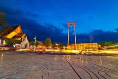 Gigantyczna huśtawka w Thailand Zdjęcie Royalty Free