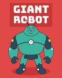 Gigantyczna robot ilustracja ilustracja wektor
