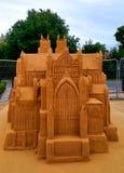 Gigantyczna Sandcastle rzeźba zdjęcia royalty free