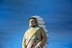 Gigantyczna statua indyjski szef fotografia stock