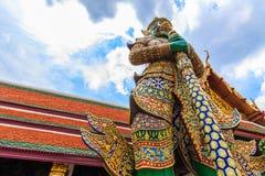 Gigantyczna statua Ravana przy wysokim kątem Obraz Royalty Free