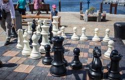 Gigantyczna szachowa gra w nabrzeżu, Kapsztad Obraz Stock