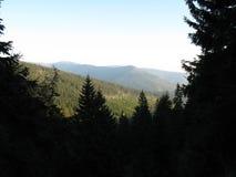 Gigantyczne góry w Polska i czechu zdjęcia royalty free