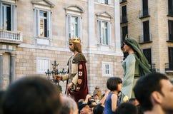 Gigantyczne kukły na Corpus Christi w Barcelona Zdjęcie Stock