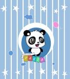 Gigantycznej pandy kreskówki tło Fotografia Royalty Free
