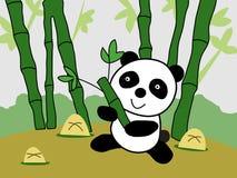 Gigantycznej pandy kreskówki wektoru ilustracja Obraz Royalty Free
