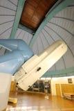 Gigantyczny astronomia teleskop Ondrejov obserwatorium zdjęcie royalty free