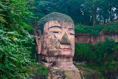 Gigantyczny Buddha Leshan Obrazy Stock