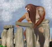 Gigantyczny buduje Stonehenge ilustracji