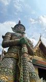 Gigantyczny demon chroni wejście Wat Phra Kaew Fotografia Royalty Free