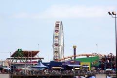 Gigantyczny koło, Snata Monica plaża i Pacyfik park, Kalifornia Zdjęcia Royalty Free