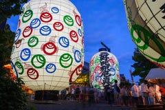 Gigantyczny latarniowy festiwal Obraz Royalty Free