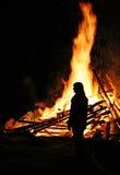 Gigantyczny ogień Fotografia Royalty Free