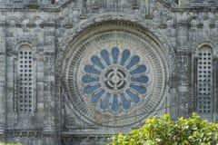 Gigantyczny okno sanktuarium Santa luzia Viana robi castelo Zdjęcie Royalty Free