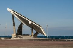 Gigantyczny panel słoneczny, Parc Del Forum, Barcelona, Catalonia, Hiszpania fotografia royalty free