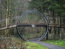 Gigantyczny rowerowy koło Zdjęcie Royalty Free