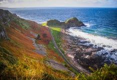 Gigantyczny ` s droga na grobli, Północny - Ireland Obrazy Royalty Free