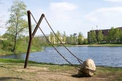 Gigantyczny slingshot - sztuki miasto krajobrazu projekt w północnym Rosja przedmiot Obraz Stock