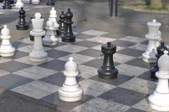 Gigantyczny szachy Zdjęcia Royalty Free