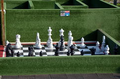 Gigantyczny szachy i labitynt Obraz Stock