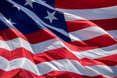 Gigantyczny Usa flaga amerykańskiej lampasów i gwiazd tło Fotografia Stock