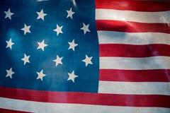Gigantyczny Usa flaga amerykańskiej lampasów i gwiazd tło Obrazy Royalty Free