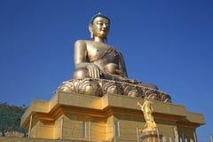 Gigantyczny Złoty Buddha Dordenma, Bhutan, zakończenie Fotografia Royalty Free