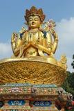 gigantyczny złocisty Kathmandu Nepal rzeźby shiva Zdjęcia Royalty Free
