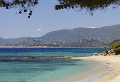 Gigaro beach near the city La Croix Volmer, Provence, France Royalty Free Stock Images