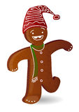 Gigerbread Man1. Simple iconic illustration of Gingerbread man Royalty Free Stock Photo
