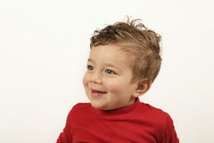 Giggle. Smiling toddler Royalty Free Stock Photo