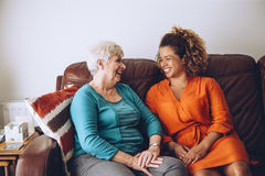 Giggles with Grandma Royalty Free Stock Image