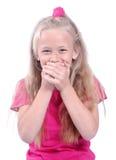 giggling κορίτσι λίγα στοκ φωτογραφία με δικαίωμα ελεύθερης χρήσης