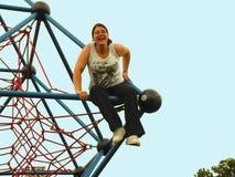 giggling κορίτσι Στοκ Φωτογραφία
