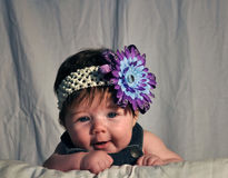 Giggling Baby. Color photograph of a baby giggling Royalty Free Stock Photos