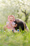 Giggling Child with Mother Royalty Free Stock Images