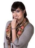 Giggling Hispanic Female Royalty Free Stock Images