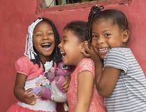 Giggling little girls Stock Photos