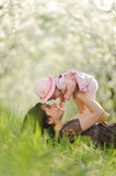 Giggling Mother and Daughter Stock Image