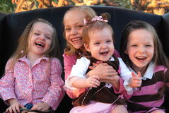 Giggly Girls Stock Image