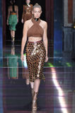 Gigi Hadid walks the runway during the Balmain show Stock Photography